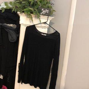 Black sweater like top